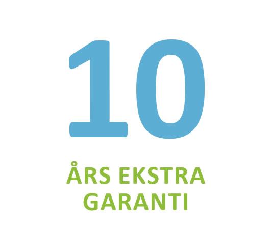 10 års ekstra garanti på varmepumpe